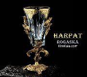 شیک ترین گلدان لوکس ساخته شده از طلا هارپات دارای شناسنامه اورجینال و گارانتی کیفیت/09120132883